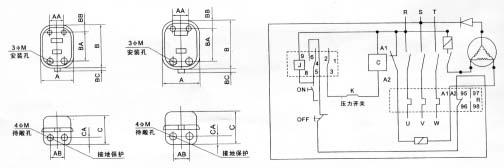 压缩机接线电路图_压缩机电路图